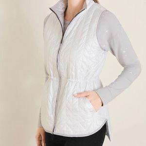 REVERSIBLE vest White/Light gray with stars